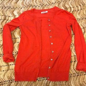 Basic red cardigan